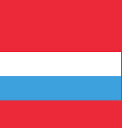 flag of luxembourg in official rate and colors vector image