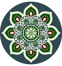 floral ethnic mandala vector image