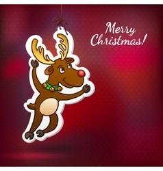 Funny Reindeer Christmas Cute Santa Reindeer vector