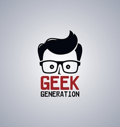 Geek nerd guy vector