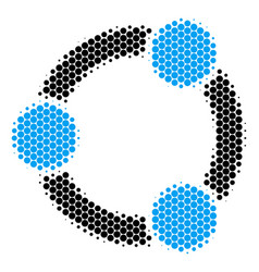Halftone dot cooperation icon vector