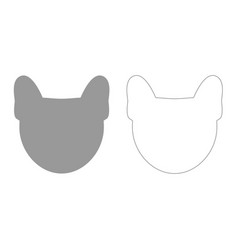head of dog grey set icon vector image