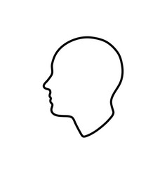 head silhouette isolated vector image
