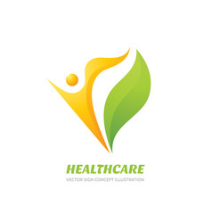 healthcare logo template health sign vector image