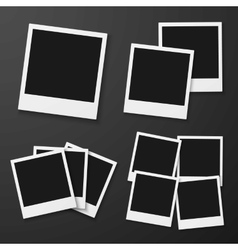Instant Photo Blank Vintage Photo Frame vector