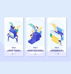 Isometric app success in big business vector