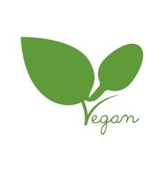 Leaf green vegan organic icon graphic vector