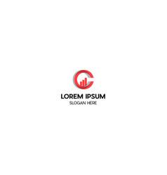 letter c investment creative logo design vector image
