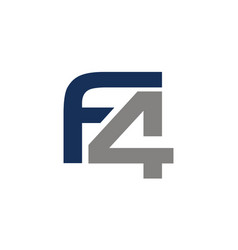 letter f4 icon vector image