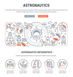 linear banner astronautics vector image