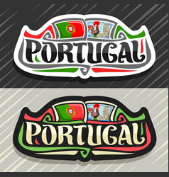 Logo for portugal vector