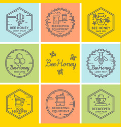 Logo for sale of honey vector