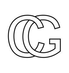 Logo sign gc cg icon sign interlaced letters c g vector
