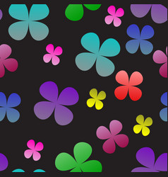 Multi-colored clover on a black background vector