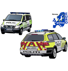 Norway police car vector