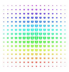 open box shape halftone spectrum pattern vector image