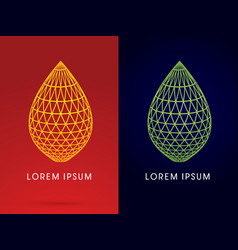 Outline luxury lotus leaf shape vector