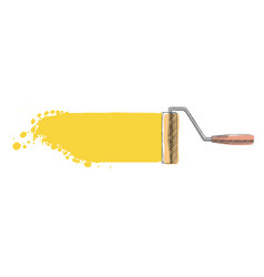 paint roller painted vector image