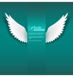 Paper wings vector image