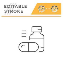 pills line icon vector image