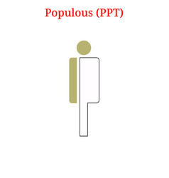 Populous ppt logo vector