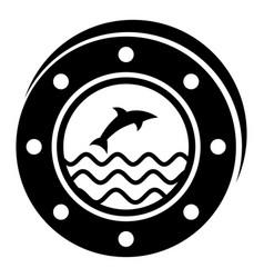 porthole icon simple style vector image