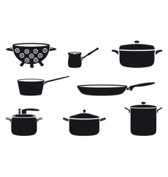 pots and pans vector image