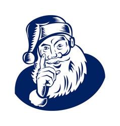 Santa Claus pointing a finger vector