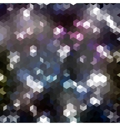 Seamless abstract geometric pattern with hexagons vector image