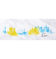 Silhouette watercolor kiev vector