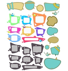 Speech bubbles big set vector