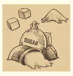 sugar doodles collection sketch sugar vector image