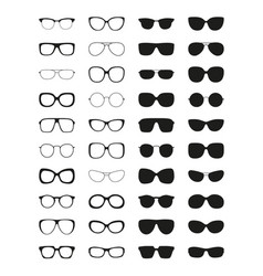 sunglasses icon set different spectacle frames vector image
