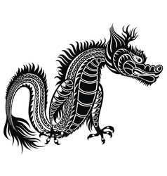 tattoo dragon vector image