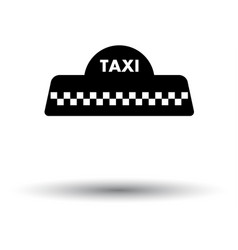 Taxi roof icon vector