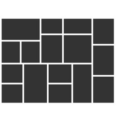 Templates collage frames photos vector