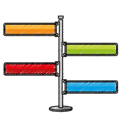 Traffic signal arrows icon vector