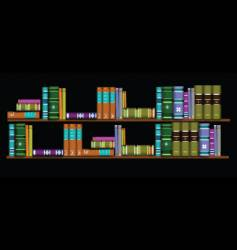 Two bookshelves vector