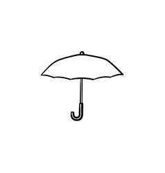umbrella hand drawn sketch icon vector image