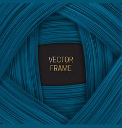 Volumetric frame on shades blue background vector
