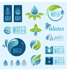 water set1 vector image