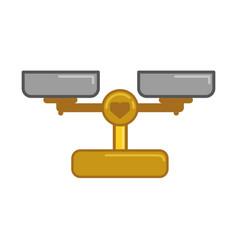 weight beam balance vector image