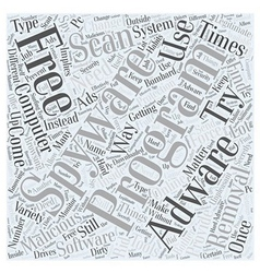 adware free removal scan spyware Word Cloud vector image vector image