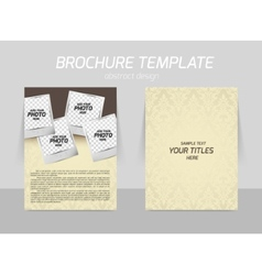 Back and front flyer template design vector image vector image