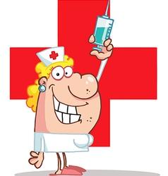 Cartoon nurse vector image