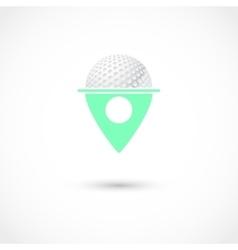 Golf club tag vector image