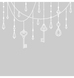isolated beads and crystals vector image vector image