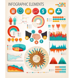 Business infographics flat template vector image