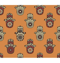 Seamless pattern with hamsa vector image