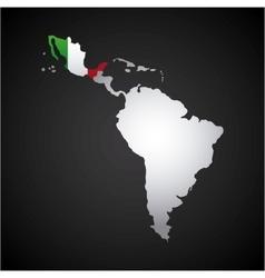 latin america map vector image